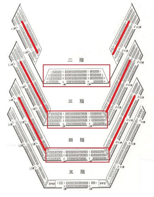 東京文化会館の2階3階4階のオススメ席